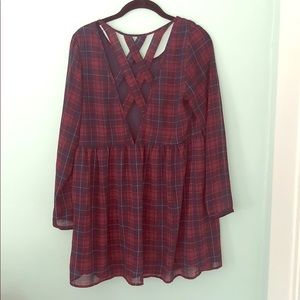 H&M Plaid Tunic Shirt